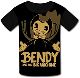 QIANBAIHUI Kids Youth Bendy and The Ink Machine 3D Printed Crew Neck T-Shirt Tees