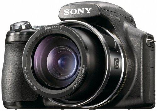 Sony DSC-HX1 Digitalkamera (9 Megapixel, 20-fach opt. Zoom, 7,6 cm (3 Zoll) Display, Bildstabilisator, 10 Bilder/sec) schwarz