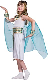Megartico Girls Halloween Egyptian Queen Cleopatra Costume with Headpiece White