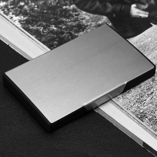 Caja De Tarjeta De Visita De Acero Inoxidable, Regalo De Empresa, Conjunto para Desarrollar Titular De Tarjeta De Visita Esmerilado, Texto De Oficina, Inyección De Titanio Negro