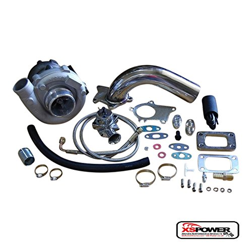 T3/T4 Turbocharger Kit T3 T4 Turbo, Downpipe, BOV, Braided Stainless Feed