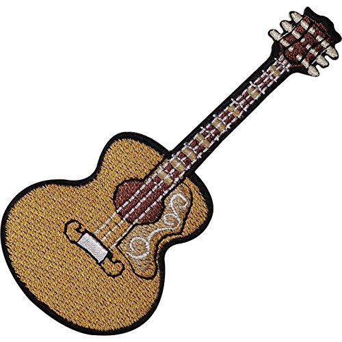 Toppa ricamata da cucire con chitarra acustica spagnola classica e termoadesiva