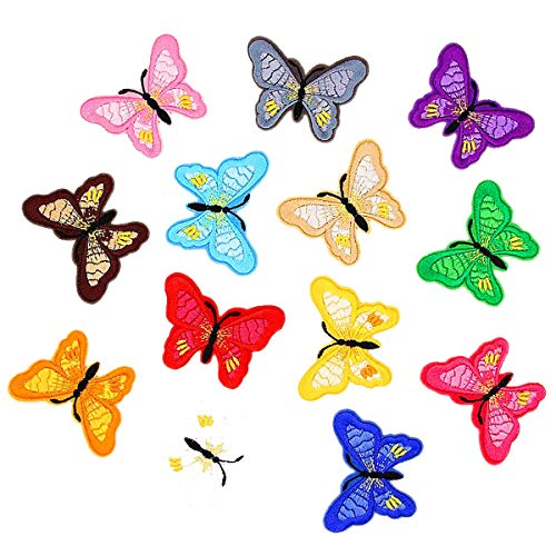 Meetlight Parches para planchar con diseño de mariposa bordada, varios tamaños, para...