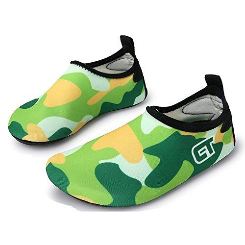 WXDZ Kids Water Shoes Swim Shoes Mutifunctional Quick Drying Barefoot Aqua Socks for Beach Pool MS0221 green 28/29