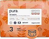 Pura - Pannolini Premium per Bambini, Taglia 3 (7-13 Kg), 6 Confezioni da 33 Pannolini (198 Pannolini), Fibre Vegetali Naturali Certificate Fsc, Ecocompatibili