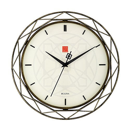 Bulova Clocks C4834 Luxfer Prism 14 Inch Frank Lloyd Wright Inspired...