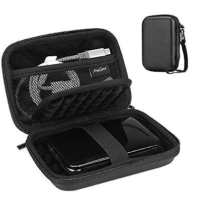 "ProCase Portable Hard Drive Case for Canvio Basics Western Digital WD Elements My Passport Seagate Portable Backup Plus Slim 1TB 2TB 3TB 4TB USB 3.0, 2.5"" Portable External Hard Drive Case"