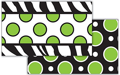 Teacher Created Resources Zebra Green Dot Double-Sided Border
