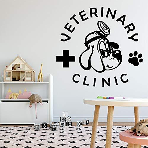 Creativo veterinario veterinario pegatinas de pared de vinilo decoración de la pared para tienda de mascotas hospital de mascotas calcomanía decorativa de pared Art Deco Mural otro color M 30x32cm