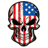 itsaskin1 American Flag Skull Head Military Sticker Decal ヨ Badass America Murica Merica LARGE 8' Sticker (Made in the U.S.A.)