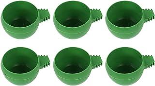 Balacoo - 20 piezas Bebedero comedero alimentador de pájaros de plástico, cuenco para comida para pájaros pequeños, loros,...
