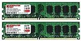 Komputerbay 日本進出記念 メモリ 2枚組 DDR2 800MHz PC2-6400 1GBX2 DUAL 240pin DIMM デスクトップ パソコン用 増設メモリ 2GB デュアル