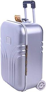 Tirelire créative valise, mini petite tirelire à bagages chariot, tirelire décoration bureau moderne, étui voyage simulati...