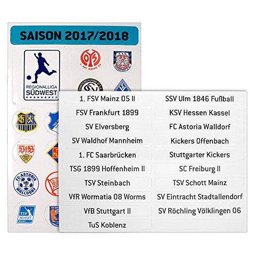 Regionalliga Südwest - Magnetplatte Wappen Saison 2017/18
