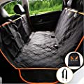PETS APEX Dog Car Seat Covers with Mesh Window, Heavy Duty Scratchproof Nonslip Waterproof Machine Washable Backseat Cover for Dogs, Pet Hammock Rear Seat Protector for Medium Compact Cars SUVs Trucks