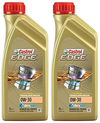 Castrol EDGE TITANIUM 0W30 C3 SN Aceite sintético para motor, 2 litros