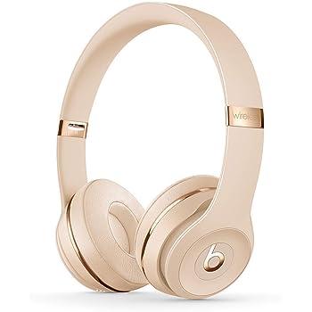 Casque supra-auriculaire BeatsSolo3 sans fil- Puce AppleW1 pour casques et écouteurs, Bluetooth classe1, 40heures d'écoute- Or satiné