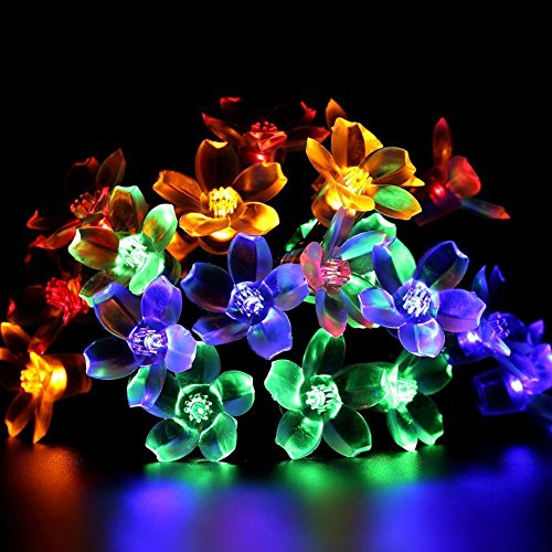Fairy String Lights Christmas Decorative Lights 33 Feet 100 LEDs, 8 Flash Modes with Tail Plug Connectable Cherry Flower Decoration Novelty Light for Party, Patio, Wedding, Home and Garden 2