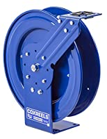 Coxreels P-LPL-150-AL Spring Rewind Hose Reel for air/water: 1/4 I.D., 50' hose capacity, less hose, 300 PSI by Coxreels