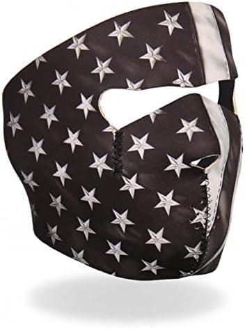 Licensed Originals Inc., Black and White Flag Artwork Neoprene Full Face Mask - Windproof Balaclava Cover