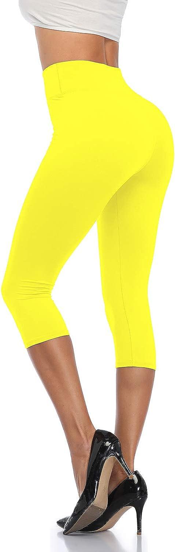 ANNISHER Capri Leggings for Women Yoga Workout Max 53% OFF Pants favorite Waist High
