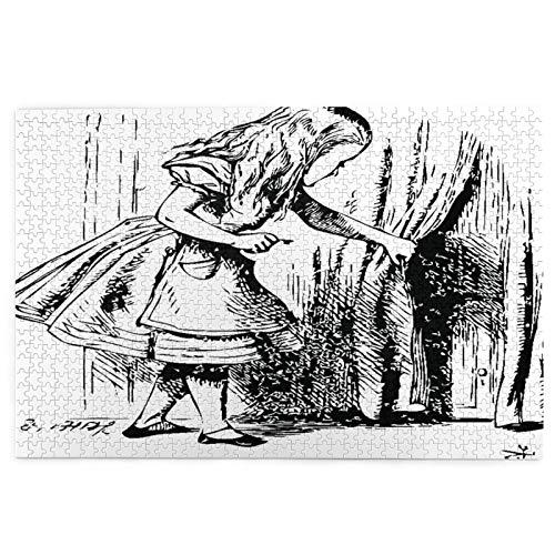Rompecabezas de 1000 Piezas,Rompecabezas de imágenes,Alicia en el país de las Maravillas.Alice mira detrás de una Juguetes puzzle for Adultos niños Interesante Juego Juguete Decoración Para El Hogar