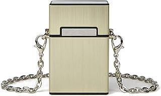 Generic Creative Chains Box Damen Umhängetaschen Designer Case Shape Umhängetasche Gold