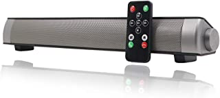 Sound Bar Wired and Wireless Connection 3D Surround Sound Speaker, Mini Bluetooth Soundbar Home Theater with Remote Control Dual Connection Methods for TV PC Smartphones Music and Movie
