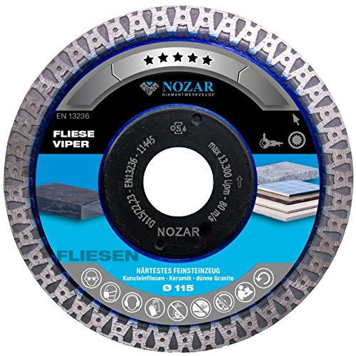 Nozar Diamant-Trennscheibe Fliese Viper 115 mm 22,23 mm
