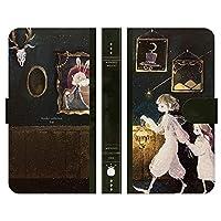 ブレインズ ZTE a1 ZTG01 手帳型 ケース カバー 真夜中の魔法書 よう wonder collection うさぎ 少年