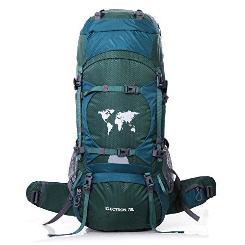 WuJiPeng Sac à Dos De Randonnée Alpinisme Multifonctionnel Grande Capacité 56-75L Camping De Randonnée Et Sac à Dos Tactique Escalade Sportive Et Imperméable,B