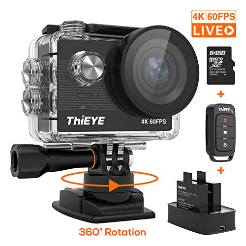 ThiEYE Cámara Deportiva 4K/60fps Ultra HD WiFi 20MP