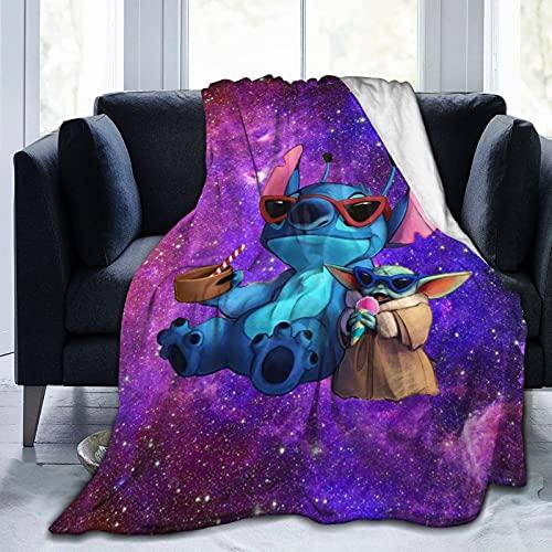 Dibujos Animados Baby Manta de Franela súper Suave Manta de Lana súper Fina Ligera y cómoda Manta de Felpa Dormitorio Sala de Estar sofá Cama 100x130cm