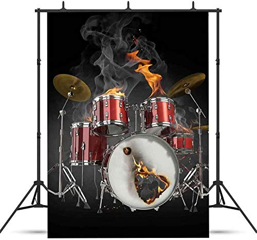 HD WCLRJT 7x10ft Musical Banquet Backdrop Drum Kit Backdrop for Pictures Photo Studio Photography Background Props Video Studio Props 048