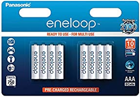 Panasonic Eneloop SY3052692 - Pack 8 pilas recargables, AAA
