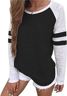 Cozyswan カラーマッチングTシャツ レディース 長袖 無地 カットソー トップス シンプル おしゃれ 快適 カジュアル 女の子 通勤通学 ルームウェア コットン ゆったり 人気 可愛い 魅力的