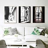MMLFY 3 aufeinanderfolgende Gemälde 30x40cm3pcs Ballett