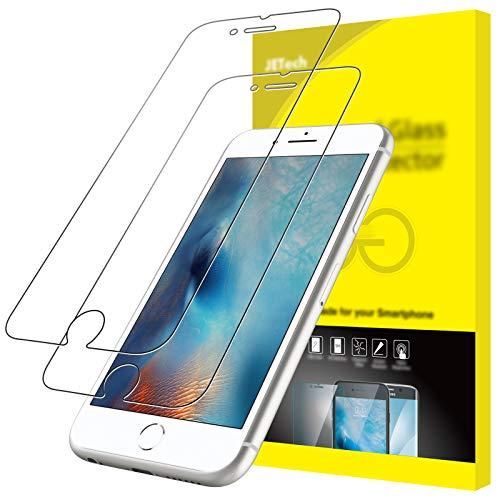 JETech Pellicole Protettive per iPhone 6s / 6, Vetro Temperato, Pacco da 2