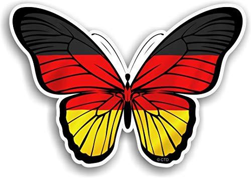 Vinyl Stickers Deutsche Flagge Schmetterling Aufkleber