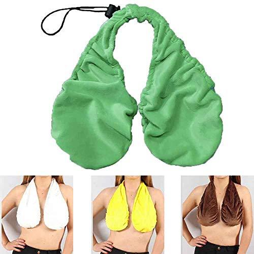 Tata Handtuch BH, Frauen Stillende Tube Top, Bequemes Casual Handtuch, Crop Top Frauen Kleidung Samt BH Hängender Hals Tube Top (grün, S)