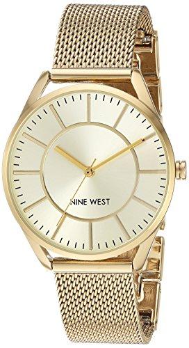 Nine West Reloj analógico para Mujeres de Cuarzo japonés con Correa en Acero Inoxidable NW/1922CHGB
