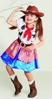 Toddler Girls Cowgirl Halloween Costume Size 18-24 Months Infant Western Hat Dress Belt Kids Babies