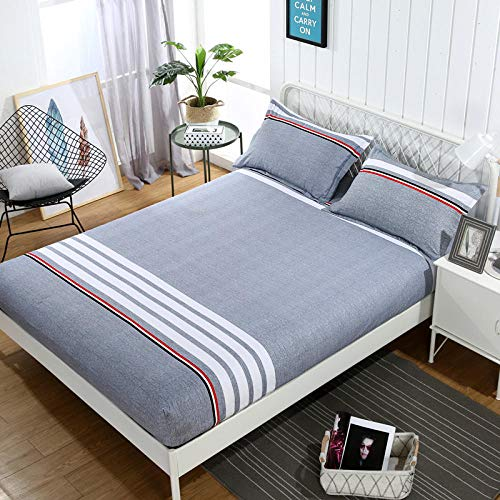 GTWOZNB Extra Deep Fitted Bed Sheet Hotel Quality Fitted Bed Sheets The bed sheet protective cover is dust-proof and non-slip-13_180*200cm