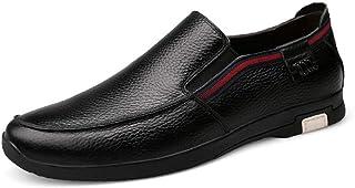 Kirabon Calzado de Hombre de Cuero Casual, Capa Superior, Calzado de Hombre de Cuero, Antideslizante, Resistente al Desgaste, Calzado Casual de Negocios, para Hombre (Color : Negro, Size : 40)