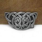 SKTNB Hebillas de cinturón Aleación de Zinc Nudo Celta Occidental Hebilla de cinturón Vaquero Occidental Hebilla de cinturón de Regalo Acabado de Peltre