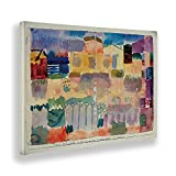 Giallobus - Pinturas - Paul Klee - Jardines en Saint Germain - Lienzo - 140x100 - Listo para Colgar - Cuadros Modernos para el hogar