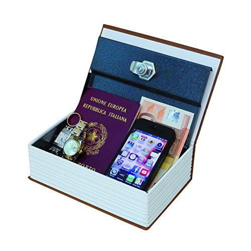 Cassetta portavalori rivestita con copertina libro colore assortiti