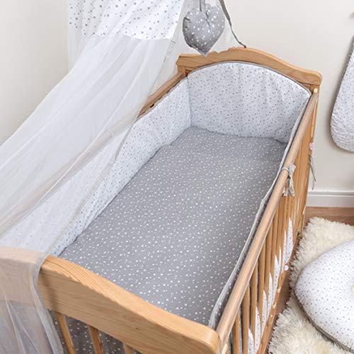 Lot de 8 Pièces de lit bébé Bumper Parure de lit avec bords renforcés pour s'adapter à 120 x 60 cm pour lit bébé Motif – 2