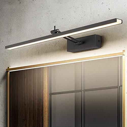 Hymy spiegellamp, zwart en wit, spiegel, modern, minimalistisch, voor badkamer, badkamer, wandlamp