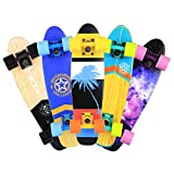 Baytter 22 Zoll Skateboard Komplett Board Mini-Cruiser aus 7-lagigem Ahornholz 57 x 15cm für Kinder, Jugendliche und Erwachsene - 8